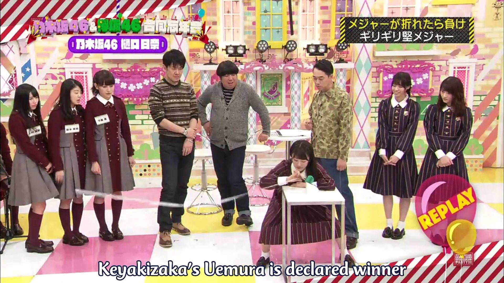 Nogizaka Under Construction 1 Hour SP: Nogizaka46 & Keyakizaka46 combined  year-end party 2016 12 29 (English Sub)